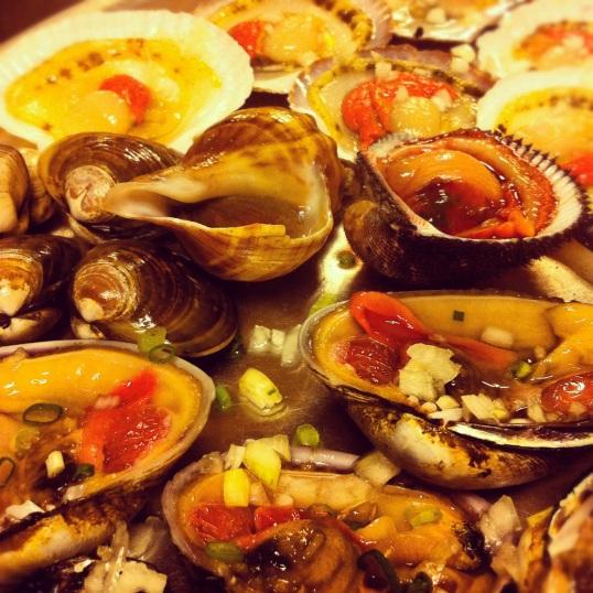 Seafood BBQ feast